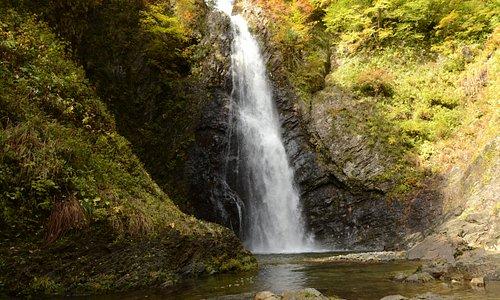 Einer der drei Wasserfällen