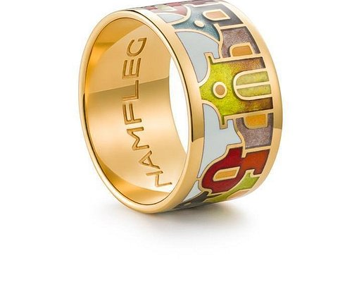 Fire enamel jewelry inspired by Faberge