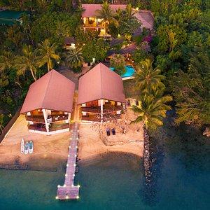 Fatumaru Lodge from the air