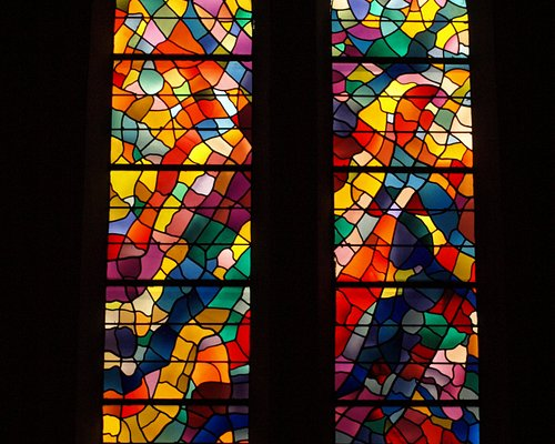 Alfred Manessier windowsin the Chapel at the Carmelite Monastery