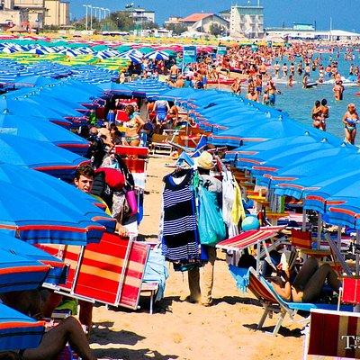 Spiaggia di ponente a Pesaro