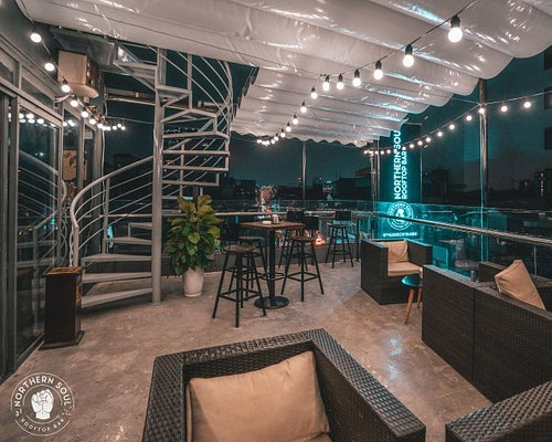 Comfortable patio for lounging and casual conversations.