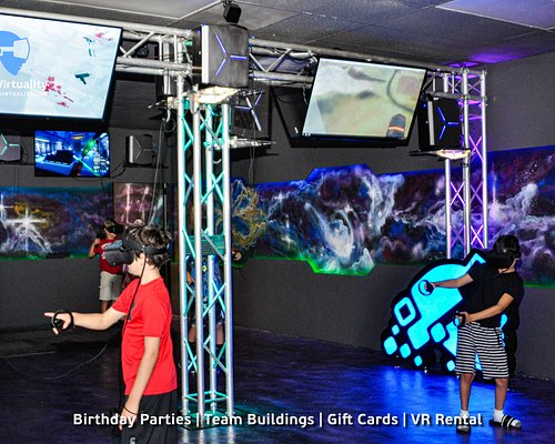 At our gaming venue we provide the best VR gaming experience in Los Angeles. With over 50 VR games and experiences that fit any ages you can enjoy amazing Virtual Reality world with friends. We also host Birthday Parties and Private events as well as provide VR rental service.