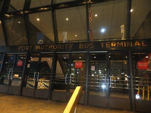 NY Port Authority Bus Terminal outside