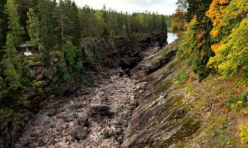The dry Imatrankoski Rapids, Imatra, Finland