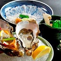 かき・ふぐ・松茸 (Oyster・Blowfish・Matsutake mushroom)