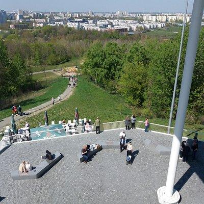 Uitzicht vanaf het midden platform over Berlijn