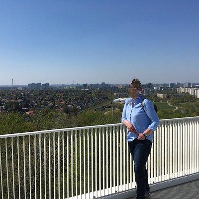Uitzicht over Berlijn, als je goed kijkt kun je in het midden de fernsehturm zien.