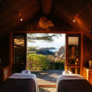 Cedar Sanctuary and Rainforest Haven are side by side treatment rooms.