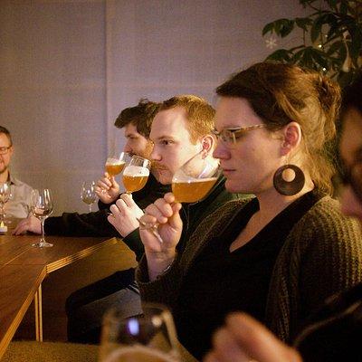 tasting wonderfull beers