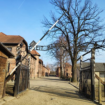 Auschwitz I, main gate.