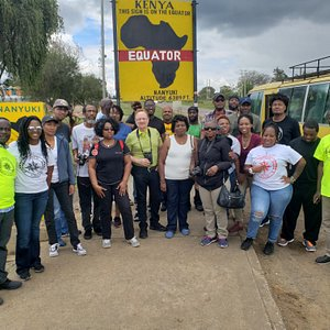 Karibu Kenya 2019 trip!! At the Equator of Kenya