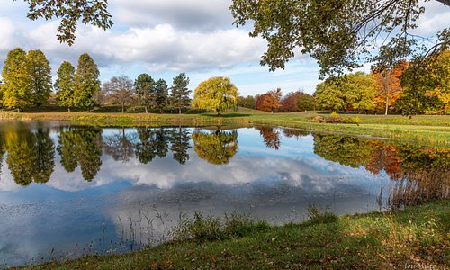 October walk around North Ponds in Webster NY  Reflection in the Pond