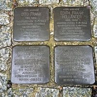 the stolperstein of the Family Frank
