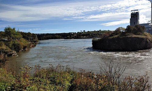 This is a view of the Reversing Falls Rapids from Fallsview Park. Photo taken October 3, 2019.