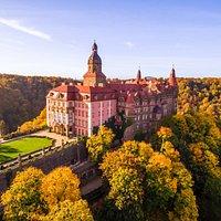 Zamek Książ in autumn colours / Książ Castle w zamkowej oprawie