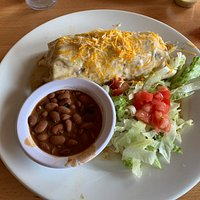 Green Chile Pork Smothered Burrito