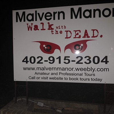 The sign outside of the Manor!!