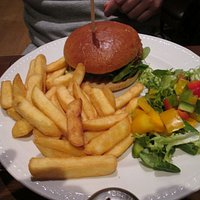 Main course of SFC Burger and Chips