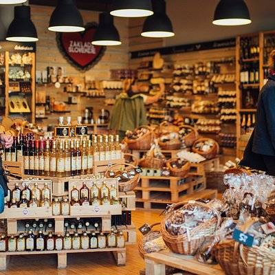 Feel the warmth and domestic of Slovenia in authentic chocolates, fine food, wines and spirits, cookies, souvenirs, honey, ...