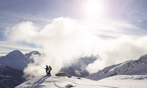Ski touring on Piz Badus