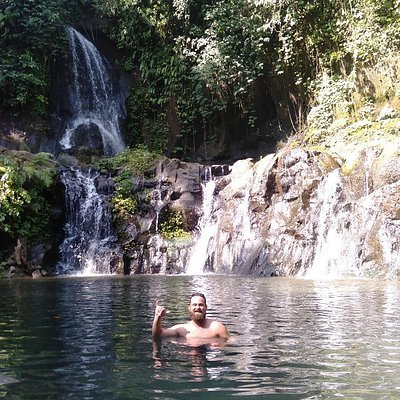 The only waterfall in Bali with a huge Natural pool at first drop of the water and also at the bottom , just 30 minutes from Ubud downtown