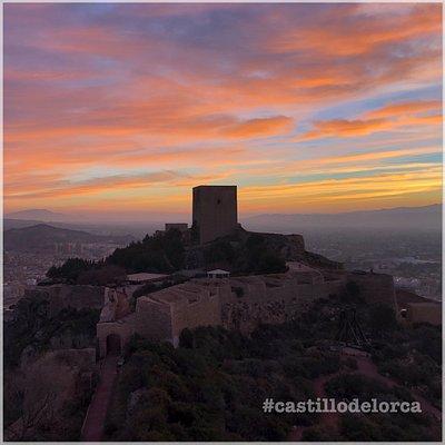 Vista del castillo de Lorca desde la Torre del Espolón