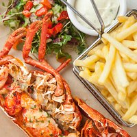 half lobster and fries (seasonal)