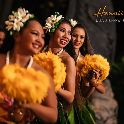 This is why you came to Hawaii, to see the world famous hula dances with the traditional feathered rattling implement!
