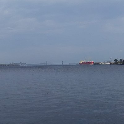 This picture was taken of the St. Lawrence river from the park.