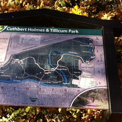 trail signage for Cuthbert Park, Saanich