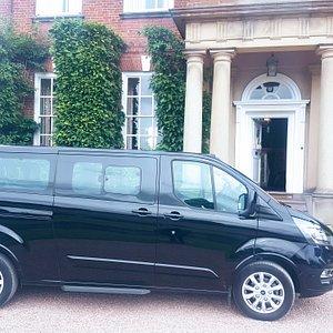 Ford Tourneo Titanium. Modern comfortable minibus for up to eight passengers.
