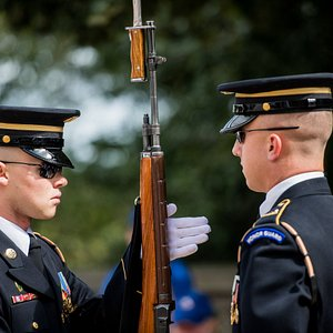 The Changing of the Guard at Arlington National Cemetery