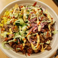 Rice bowl with Pork and Chicken