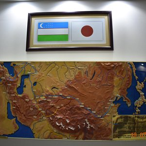 map of Japanese soldiers route to Central Asia