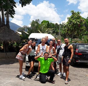 North West Bali tours.. Tanah lot temple Jati luwih rice terrace with Guest from Netherland.