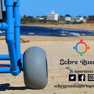 Sobre Ruedas brinda servicios de creación y préstamo gratuito de sillas anfibias gracias a nuestro alquiler de bicicletas en la ciudad de Piriápolis.