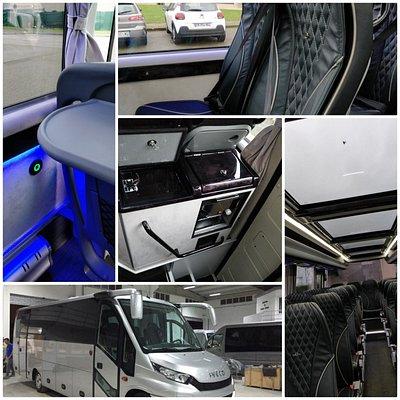 Minibus 28 places de standing port USB, FRIGO, VIDEO, CLIM, MACHINE A CAFE