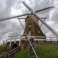 Johan Slingerland, molenaar op de Putmolen (molen 4).