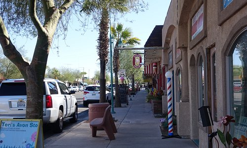 Quaint little local downtown