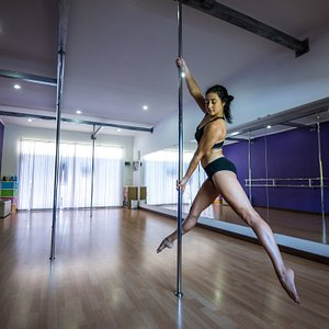 Founded in 2014, the studio is now owned and operated by Russian pole artist Daria Anufrieva. Daria along with an experienced staff of trainers will work with you to achieve your pole dance goals.