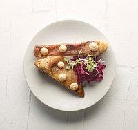 Orella de porc duroc i kimchi Oreja de cerdo duoc y kimchy