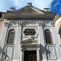 la facciata rinascimentale della chiesa