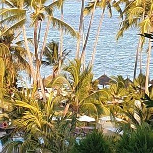 Voilà  Zanzibar il fait beau et  chaud. C'est dommage que la baignade est difficile  avec tous ses vendeurs  super lourd et super collant la seul manière  de s'en tiré  c'est de les ignorer .sinon vous allez  éviter  la plage .