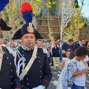Carabinieri are always attending religious parties