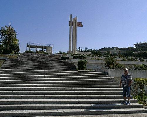 Trappen opp til War Cemetery Partisans