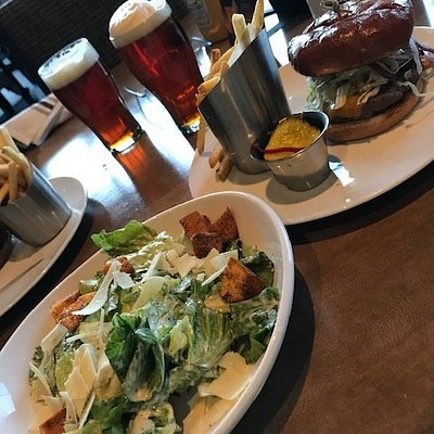 great sandwich and salad