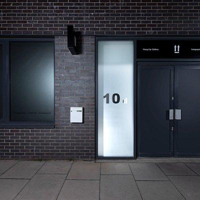 Gallery entrance.