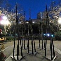 """Œuvre d'Art Public, """"Les Attracteurs"""", Parcours Interactif, André Du Bois, 2015"""
