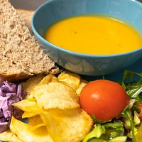 Try our homemade soup with freshly made sandwich, toastie or chiapanini and served alongside coleslaw, salad and crisps